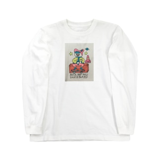 スケボーフクロウ Long sleeve T-shirts