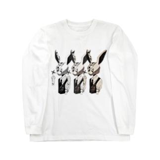 狂兎三 Long sleeve T-shirts