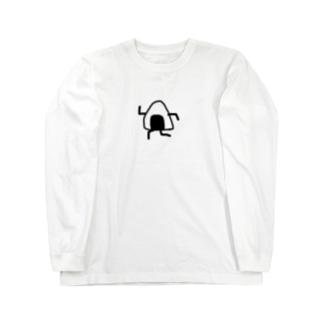 走るおにぎり Long sleeve T-shirts