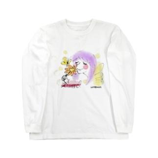 エンジェルと花と蝶 Long sleeve T-shirts
