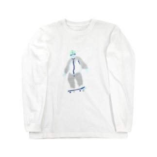 Ghost Boy Rides on Long sleeve T-shirts