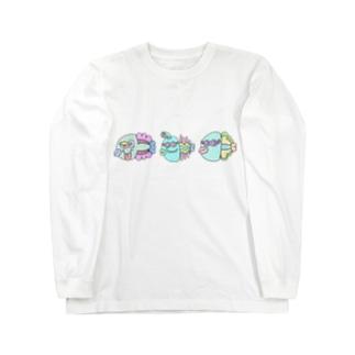 世紀末お魚市場 Long sleeve T-shirts