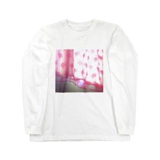部屋の花柄カーテン Long sleeve T-shirts