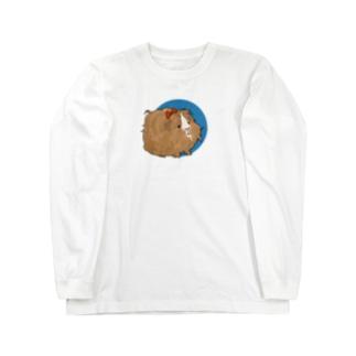 茶色のペルビアン・はんなさんブルー Long sleeve T-shirts