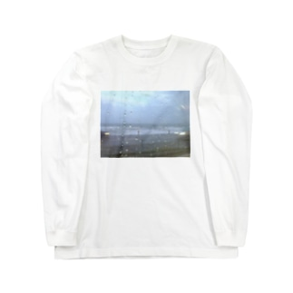 9月の雨の海 Long sleeve T-shirts