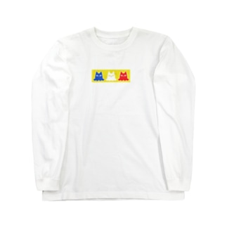 Ghost×Cats!!!-yellow- Long sleeve T-shirts