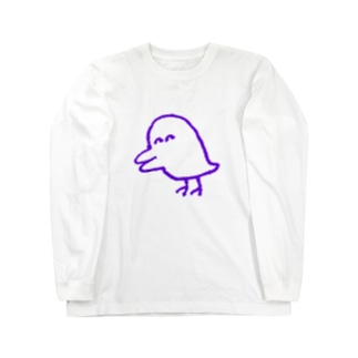害鳥(透明) Long sleeve T-shirts