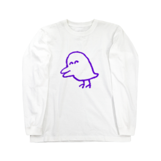 akiocoの害鳥(透明) Long sleeve T-shirts