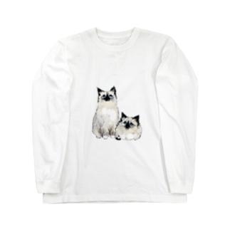もちもち猫 Long sleeve T-shirts