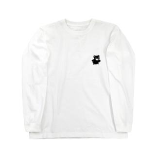 黒クマのくままん ロンT Long sleeve T-shirts