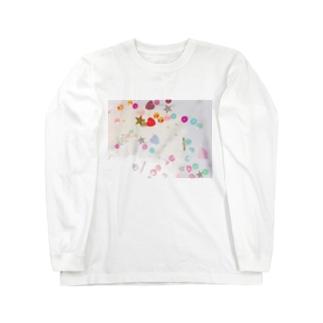 カラフルスパンコール Long sleeve T-shirts