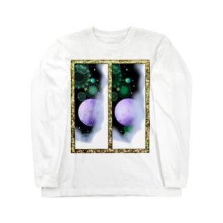 立体視新宇宙交差法 Long sleeve T-shirts