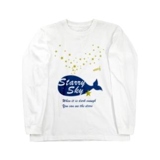 Starry sky 星吹きクジラ Long sleeve T-shirts