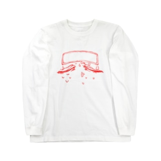 ねつ(あかせん) Long sleeve T-shirts