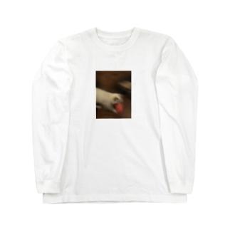 寿司を持って脱走する猫 Long sleeve T-shirts
