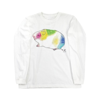 いろいろ色のモルモット Long sleeve T-shirts