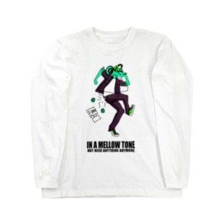 IN A MELLOW TONE -green- Long sleeve T-shirts
