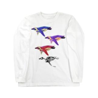 ケープペンギン3+ホネ Long sleeve T-shirts