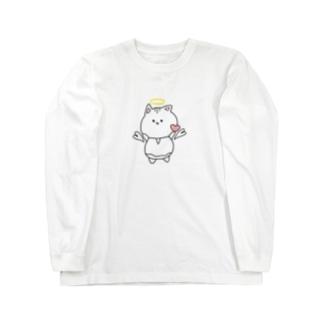 天使ぬこさん Long sleeve T-shirts
