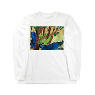 なつあきけいりゅうずびょうぶ Long sleeve T-shirts