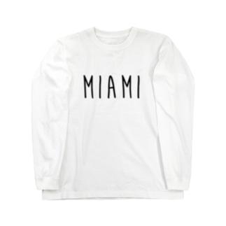 マイアミ Long sleeve T-shirts