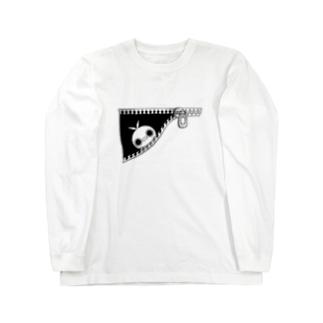 クレイジー闇うさぎ(ちらり) Long sleeve T-shirts