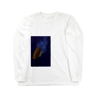沈サーモン(皿なし) Long sleeve T-shirts