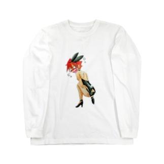 章(しょう)【バニーガール衣装】 Long sleeve T-shirts