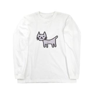 奇妙なねこ Long sleeve T-shirts