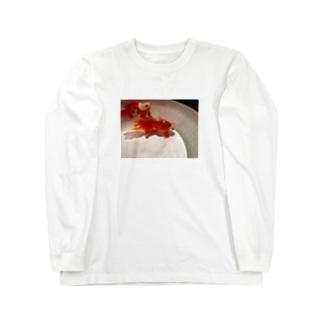 可愛い金魚 Long sleeve T-shirts