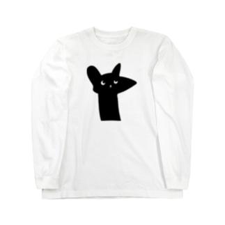 ラッキー猫 Long sleeve T-shirts