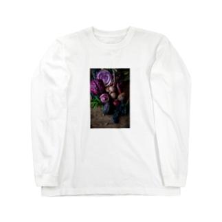 紫の野菜たち Long sleeve T-shirts