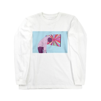 のぞきこむ Long sleeve T-shirts