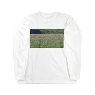 コスモス畑 Long sleeve T-shirts