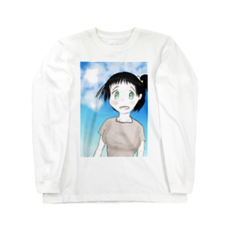 げーむやかんのファンタジー調で描いた村娘 Long sleeve T-shirts