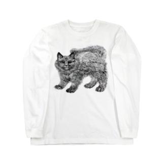 ふわふわの仔猫 Long sleeve T-shirts