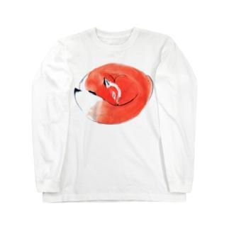 ねむりきつね Long sleeve T-shirts