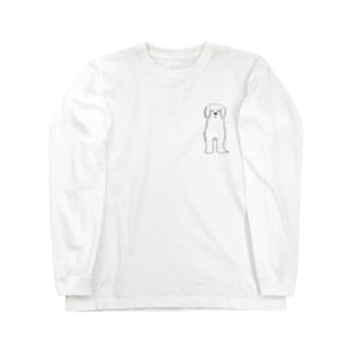 ほわほわ わんこ Long sleeve T-shirts