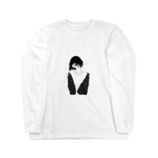 黒髪ボブ Long sleeve T-shirts