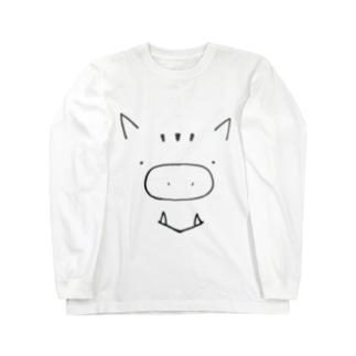 いのししさん Long sleeve T-shirts