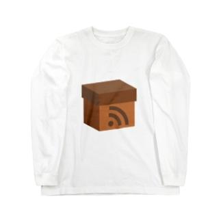 電波ダンボール Long sleeve T-shirts