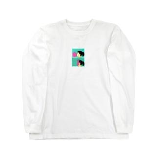 風船と女の子 Long sleeve T-shirts