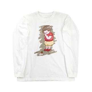 ソフトクリーム落としちゃった子 Long sleeve T-shirts