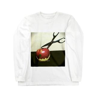 「りんごさん」 Long sleeve T-shirts