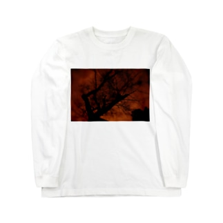 赤焼け Long sleeve T-shirts