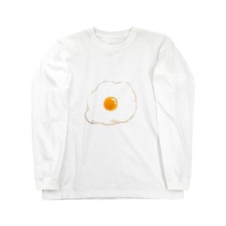 目玉焼き Long sleeve T-shirts