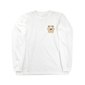 ぺたんこくまさん Long sleeve T-shirts