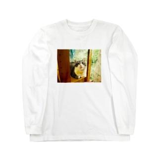 窓辺のマァ坊 Long sleeve T-shirts
