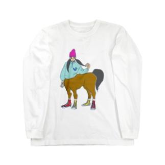 ツインテール子 Long sleeve T-shirts
