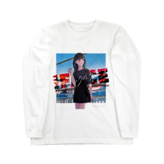 TYPE:)FACE of UNIKO_RED Long sleeve T-shirts
